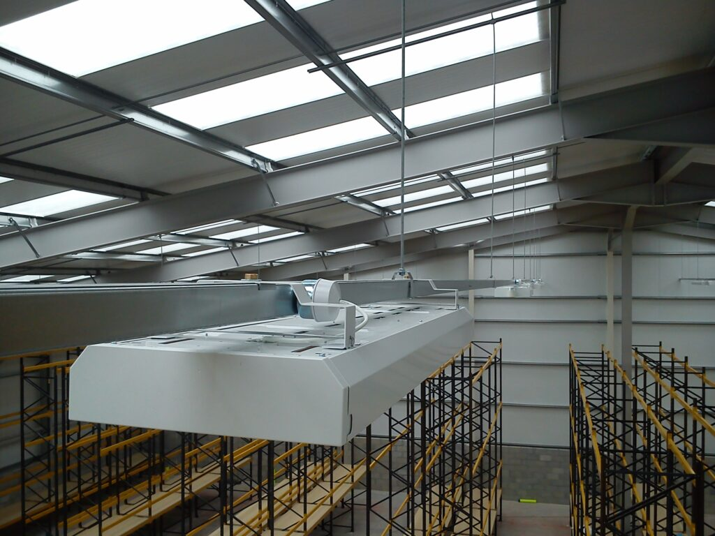 installation of motion sensing / dimming low energy lighting to a distribution warehouse