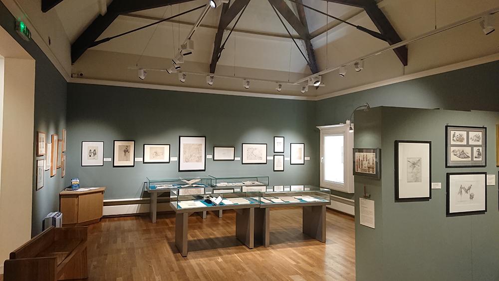 Falmouth art gallery. Installation of display lighting