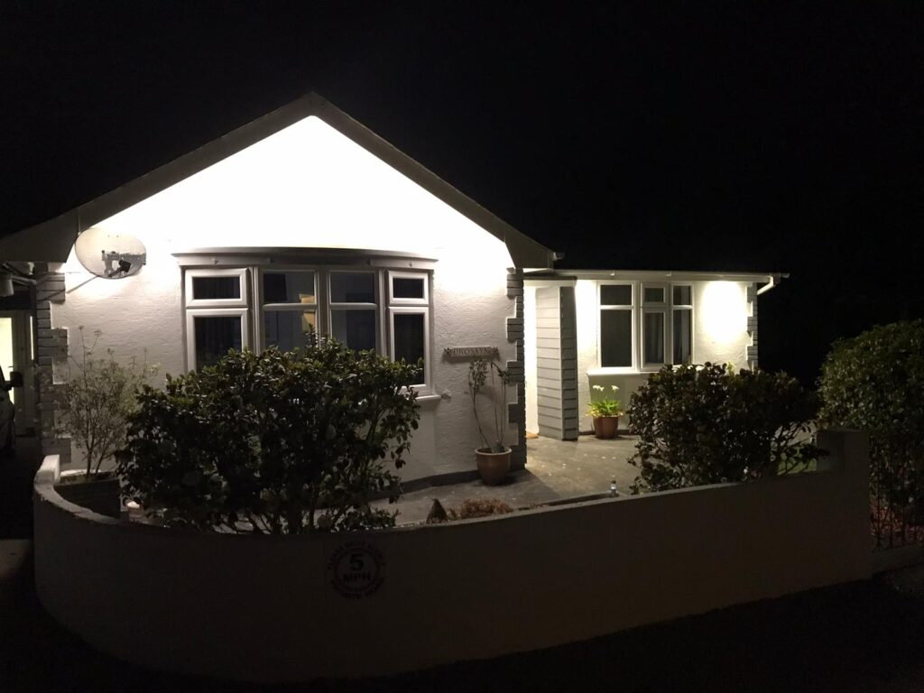 Rewire of a property including external LED lighting
